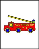 1st BIRTHDAY T-SHIRTS FIRE TRUCK