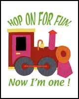 1st BIRTHDAY T-SHIRTS TRAINS