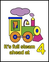 TRAINS ON TEES FOR 4 YEAR OLDS