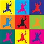 Long Jumping Pop Art
