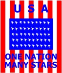 USA ONE NATION MANY STARS