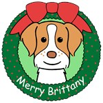 Brittany Spaniel Christmas Ornaments