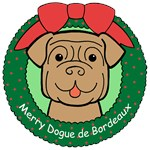 Dogue de Bordeaux Christmas Ornaments