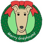 Greyhound Christmas Ornaments