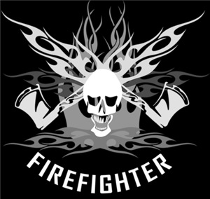 Skull and Crossbones Firefighter Emblem
