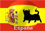 Spanish Flag With Bull
