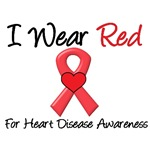 I Wear Red For Heart Disease Awareness T-Shirts &