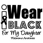 I Wear Black Ribbon For My Daughter T-Shirts