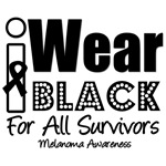 I Wear Black All Melanoma Survivors T-Shirts
