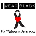 I Wear Black Ribbon Melanoma awarenessT-Shirts