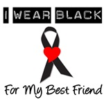 I Wear Black Ribbon Best Friend T-Shirts