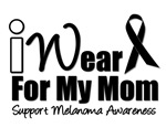 I Wear Black Ribbon For My Mom T-Shirts & Gifts