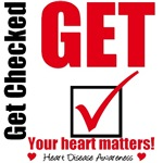 Get Checked Your Heart Matters T-Shirts & Gifts