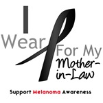 Melanoma I Wear Black Ribbon Mother-in-Law Shirts