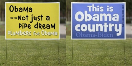 Bark Obama Yard signs, Posters, and Greeting cards