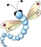 Cute Blue Dragonfly