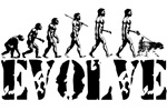 Dog Walking Evolution T-shirts
