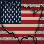 Flag USA Map