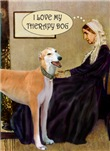 WHISTLER'S MOTHER<br>& Greyhound Therapy Dog (Red)