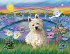 SUNRISE LILIES<br>& West Highland Terrier#1