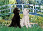 LILY POND BRIDGE<br> & 2 Std Poodles