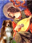 ANGEL WITH MANDOLIN<br>& Australian Shepherd