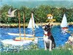 SAILBOATS<br>& Boston Terrier