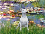 LILIES <br>& White Bull Terrier