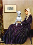 WHISTLER'S MOTHER<br>& White Bull Terrier