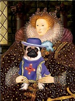 QUEEN ELIZABETH I<br>& SIR PUG