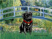 LILY POND BRIDGE<br>& Black Pug