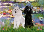 WATER LILIES<br> & 2 Poodles