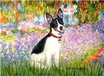 GARDEN AT GIVERNEY<br>& Rat Terrier