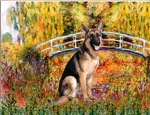 JAPANESE FOOT BRIDGE<br>& German Shepherd