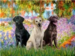 GARDEN AT GIVERNEY<br>& 3 Labrador Retrievers