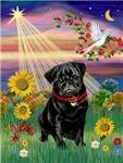 AUTUMN ANGEL<br>& Black Pug #17