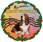 CHRISTMAS MUSIC 2MC<br> & Basset Hound