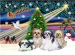 CHRISTMAS MAGIC<br>& 4 Shih Tzus