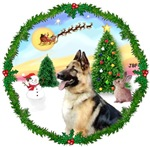 SANTA'S TAKE OFF #1<br>& German Shepherd