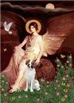 SEATED ANGEL<br>& Brittany Spaniel