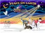 CHRISTMAS SUNRISE<br>& 4 Italian Greyhounds