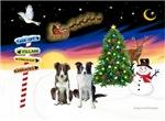 CHRISTMAS SIGNS<br>& 2 Border Collies