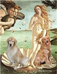 BIRTH OF VENUS<br>With 2 Golden Retrievers