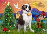 CHRISTMAS ELF<br>& Saint Bernard