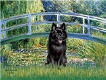 LILY POND BRIDGE<br>&Schipperke #4