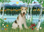BIRCHES BY THE LAKE<br>& Wire Fox Terrier