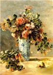 Vase of Flowers<br>& Maltese (B)