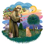 St. Francis (ff) with<br>an Orange Tabby Cat
