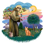 St. Francis (ff) with<br>an Abyssinian (red)