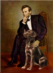ABRAHAM LINCOLN<br>& Chocolate Labrador